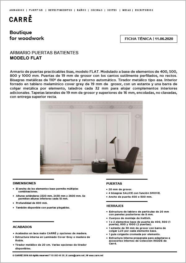 Ficha técnica armario FLAT